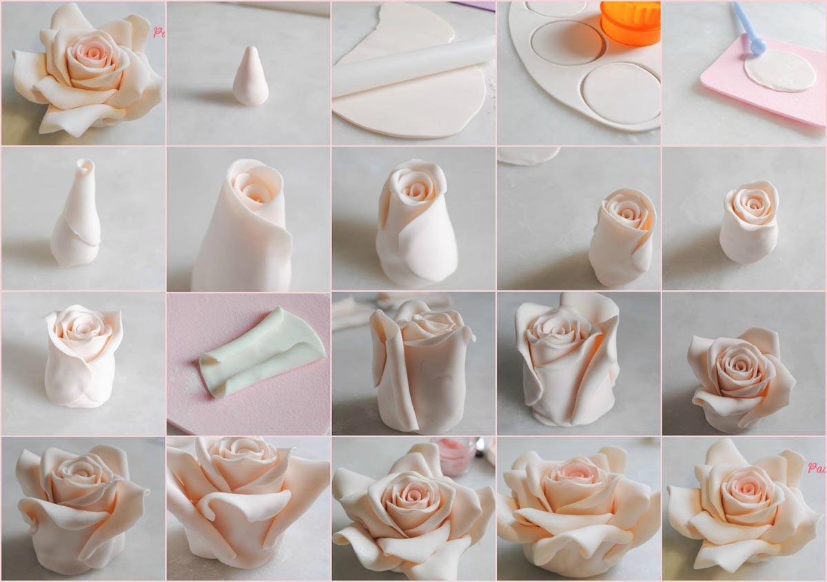 Розочка из мастики. Фото с сайта media-cache-ec0.pinimg.com