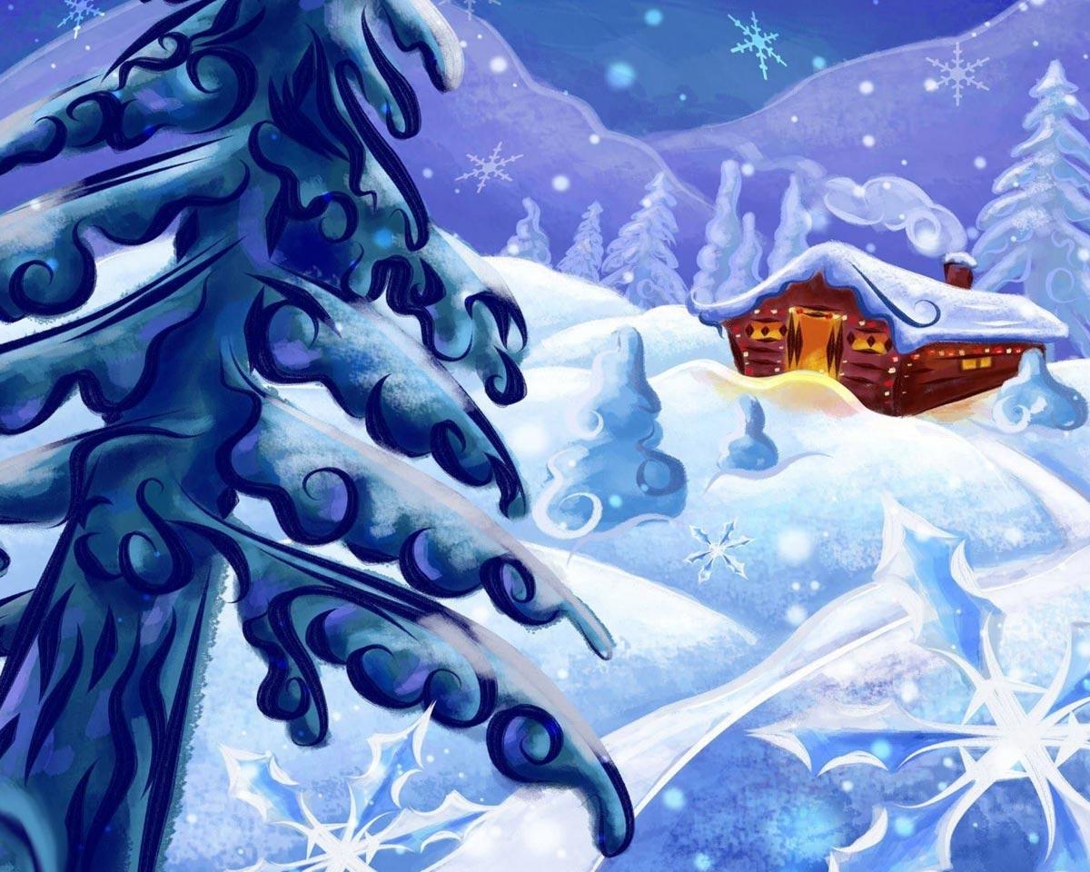 Сказочный домик Деда Мороза
