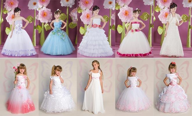 Платья для девочек с пышными юбками. Фото с сайта jeorjettdress.com