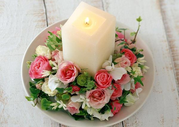 Романтичная свеча своими руками. Фото с сайта smallville.3dn.ru