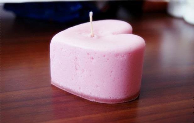 Суфлеобразная свеча. Фото с сайта www.livemaster.ru
