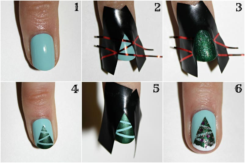 Стильная елочка на ногтях. Фото с сайта thejizn.com