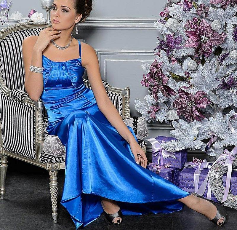 Синее элегантное платье. Фото с сайта www.prostoshopping.com