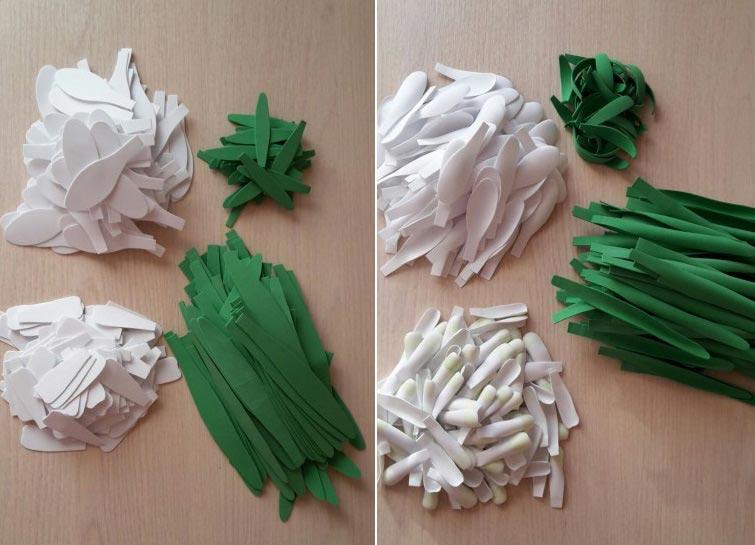 Заготовки для подснежников из фоамирана. Фото с сайта www.maam.ru