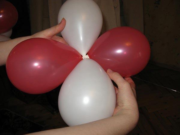 Как соединить 4 шара. Фото с сайта womanadvice.ru