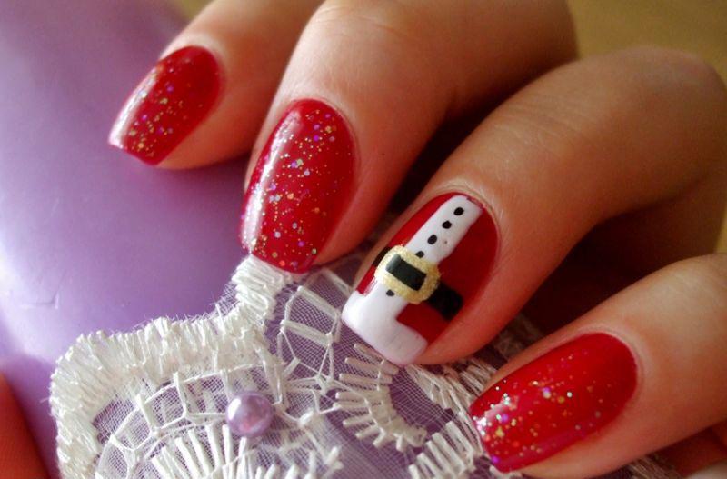 Идея новогоднего маникюра. Фото с сайта z4it.ru