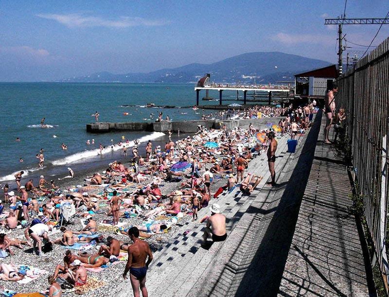 Сочи популярен у туристов. Фото с сайта panoramio.com