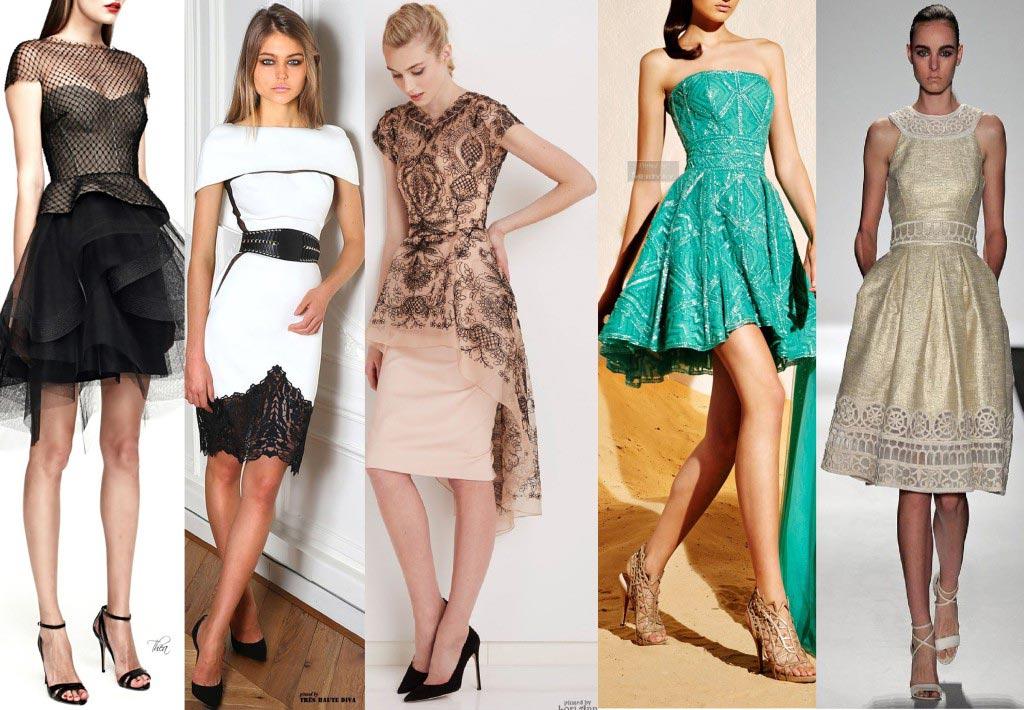 Короткие платья тоже могут быть разной длины. Фото с сайта stilnaya-moda.ru
