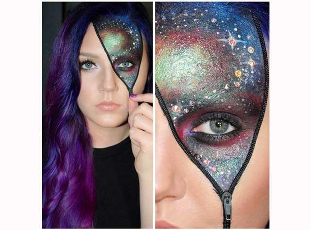 """""""Космический"""" макияж. Фото с сайта karnaval.com"""