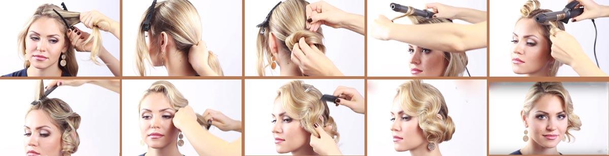 Как сделать прическу пошагово. Фото с сайта www.youtube.com