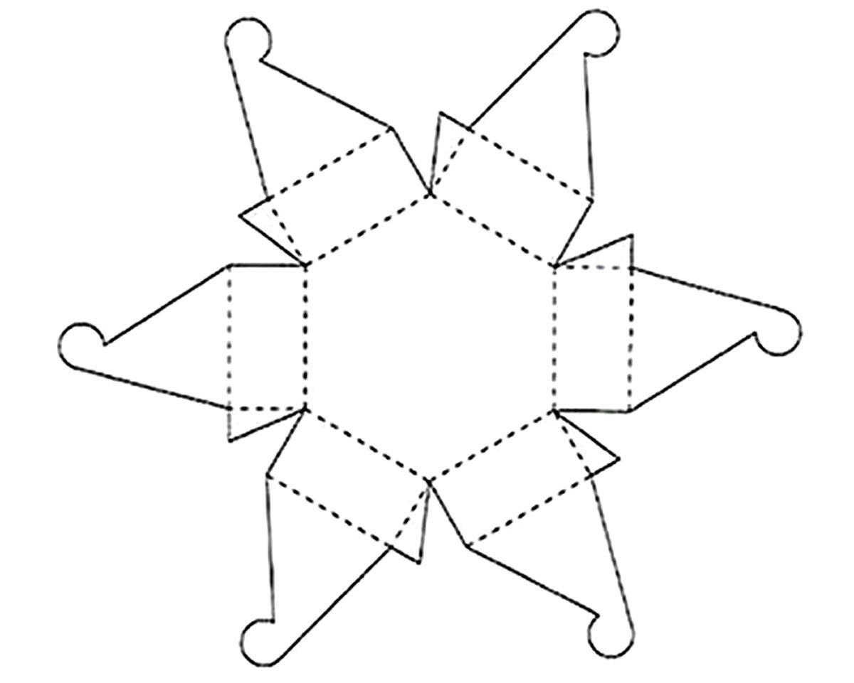 Коробка для торта с шестиугольным основанием. Фото с сайта vse-svoimi-rukami.ru
