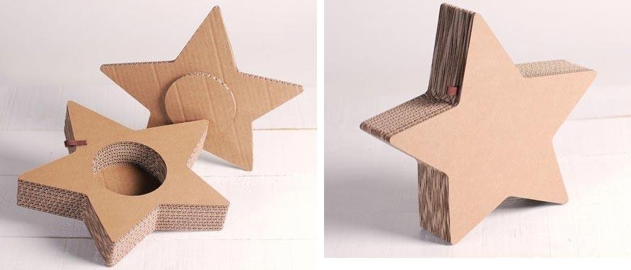 Объемная звезда-коробочка. Фото с сайта selfpackaging.com
