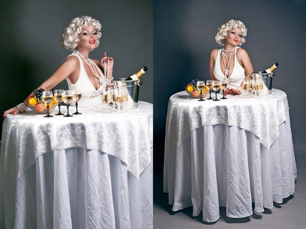 Леди-фуршет в роли Мерлин Монро. Фото с сайта anti-tamada.ru