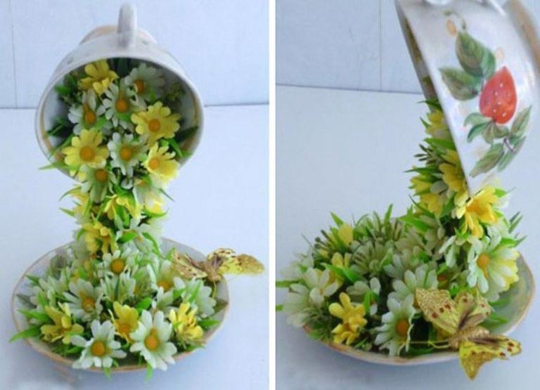Цветы в чашке? Почему бы и нет! Фото: womanadvice.ru