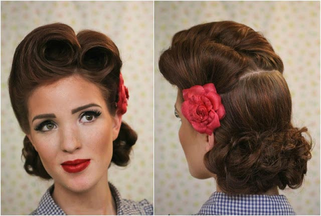 Роллы на волосах. Фото с сайта ladiesvenue.ru