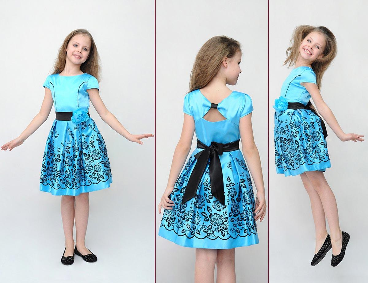 Элегантное платье для девочки на 8 Марта. Фото с сайта chudomama.com