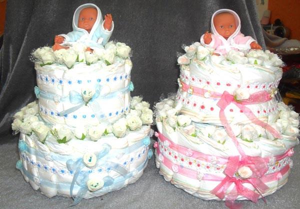 Торт для мальчика и девочки отличает только цветовая гамма. Фото с сайта wwww.9000.md