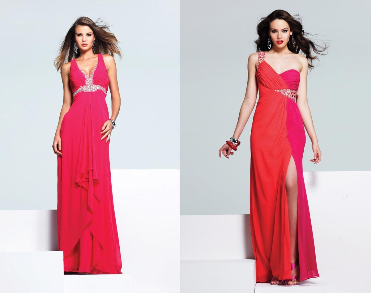 Красные, розовые и коралловые оттенки отлично подойдут для встречи Нового года 2017. Фото с сайта the-dress.ru