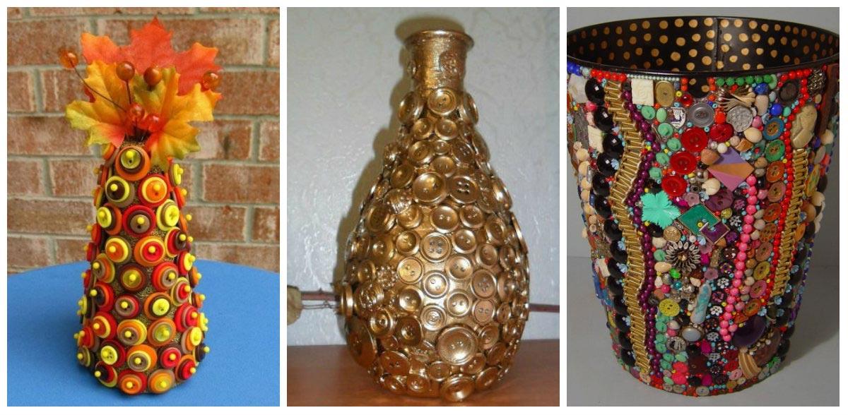 Необычный декор вазы своими руками. Фото с сайта dom-dacha-svoimi-rukami.ru