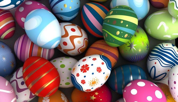 Красивые крашеные яйца. Фото с сайта www.vokrugsveta.ru