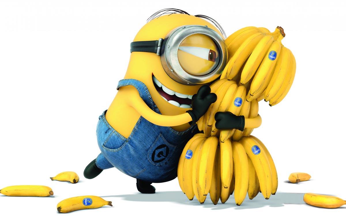 Миньоны любят бананы. Фото с сайта wallgood.ru