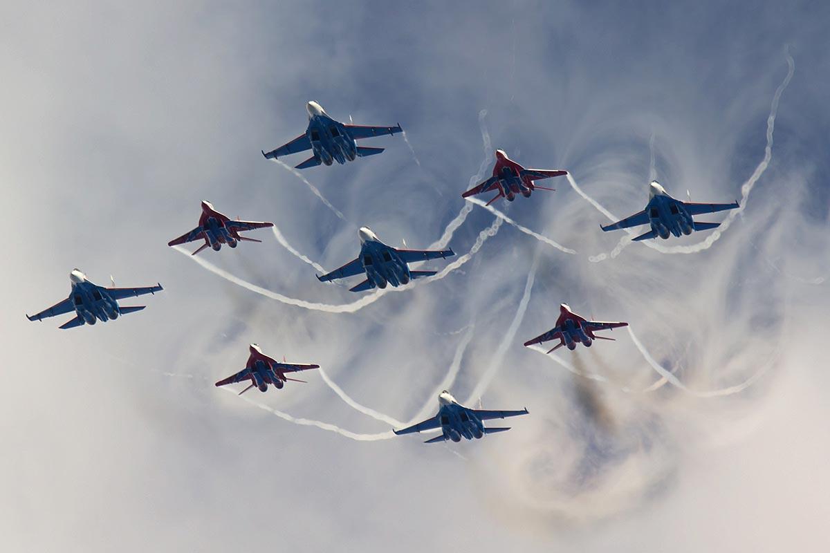 Шоу на День ВВС. Фото с сайта aviaforum.ru