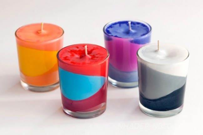 Яркие свечи украсят любой праздник. Фото: nhadep-nblog.com