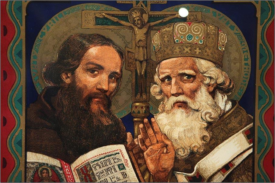Кирилл и Мефодий создали кириллицу. Фото с сайта www.pomortzeff.com