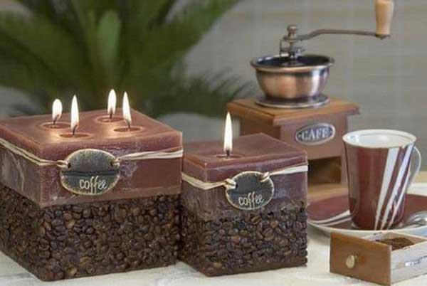 Используйте для оформления кофейные зерна. Фото с сайта namujaukumas.lt