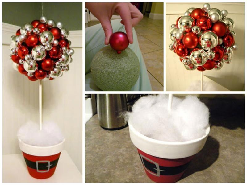 Оригинальный топиарий из елочных игрушек. Фото с сайта svoimi-rukami.vilingstore.net