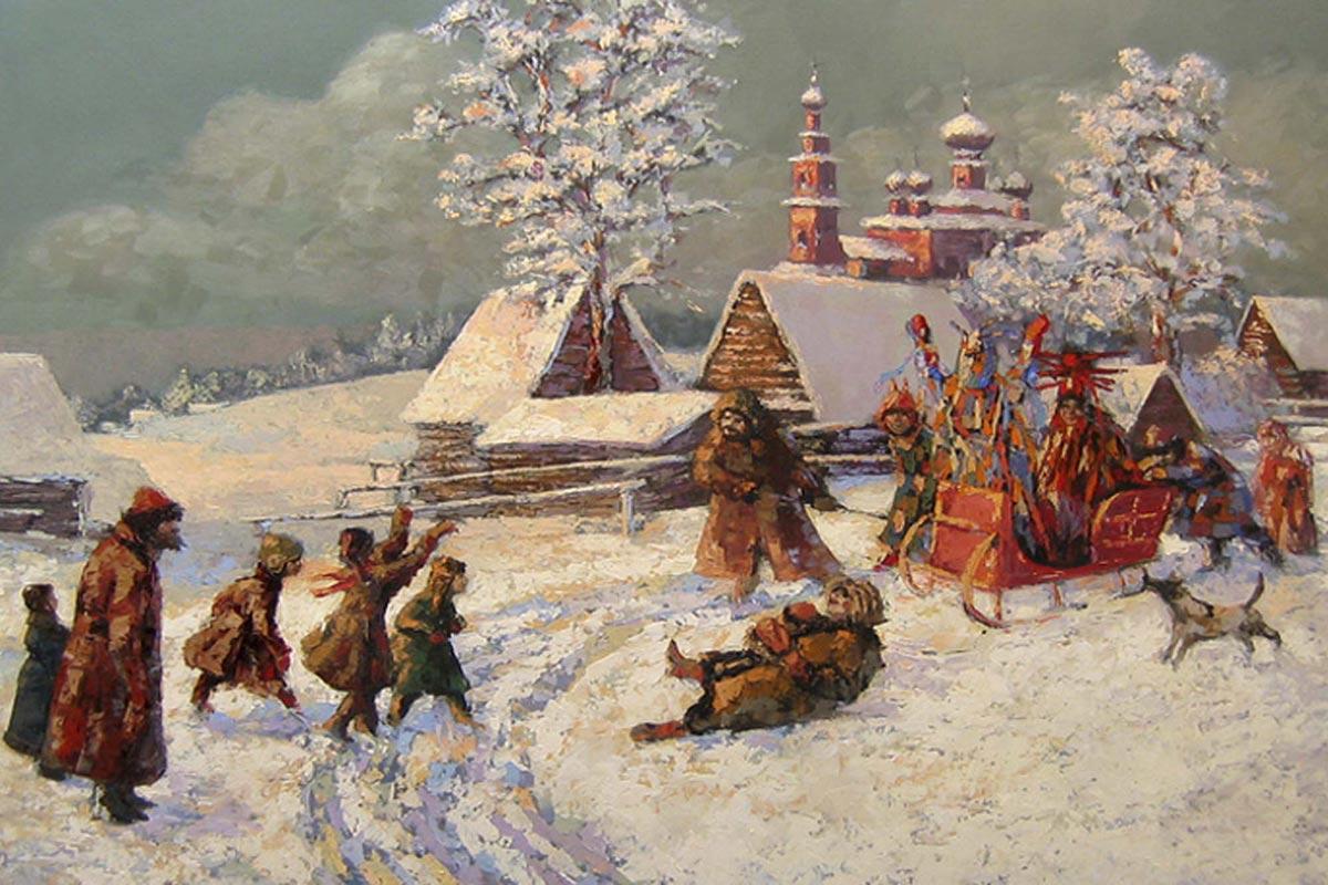 Празднование Рождества на Руси. Фото с сайта life34.ru
