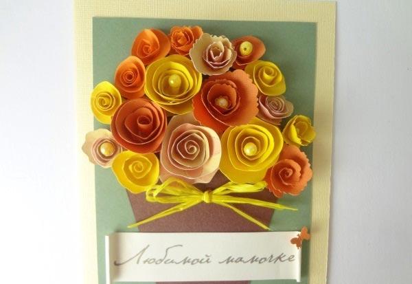 Квиллинг-открытка. Фото с сайта podarki.ru