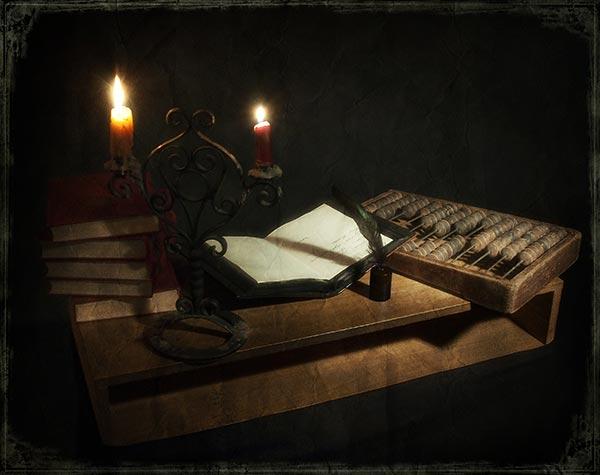 Счеты и бухгалтерская книга. Фото с сайта samlib.ru