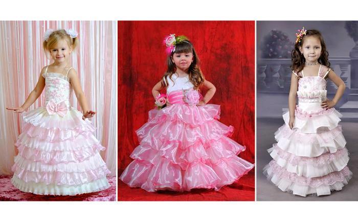 Платья с пышными юбками для девочек. Фото с сайта eva.ru