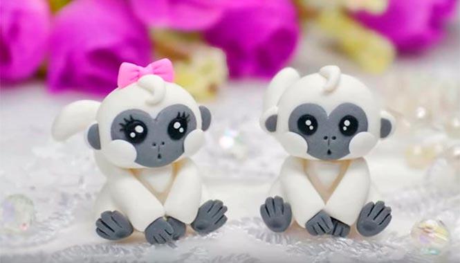 Обезьянки из полимерной глины. Фото с сайта www.mkpolimer.ru