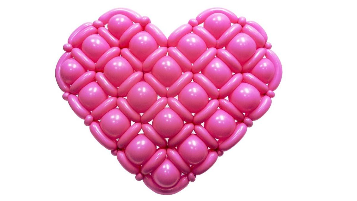 Плотное сердце из шаров