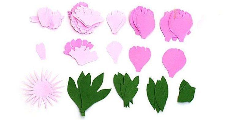 Цветы из фоамирана своими руками 10