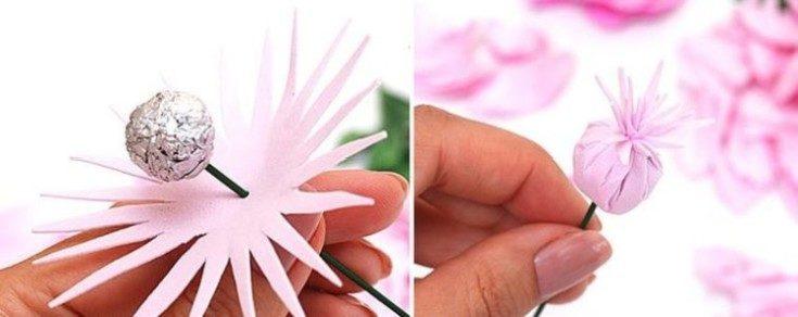 Цветы из фоамирана своими руками 22