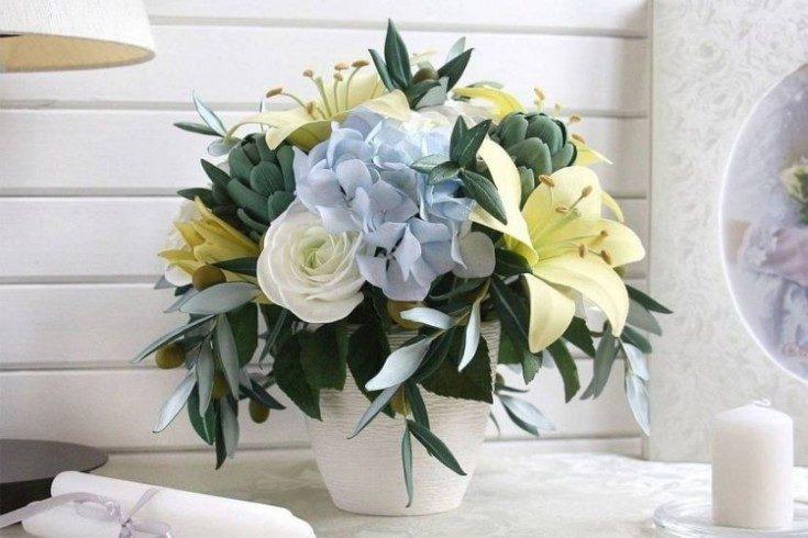 Цветы из фоамирана своими руками 2