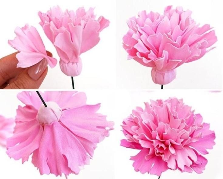 Цветы из фоамирана своими руками 26
