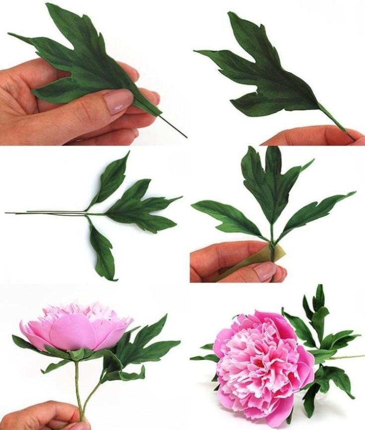 Цветы из фоамирана своими руками 30