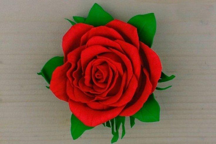 Цветы из фоамирана своими руками 31