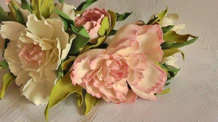 Цветы из фоамирана своими руками 3