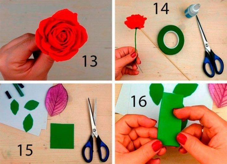 Цветы из фоамирана своими руками 36