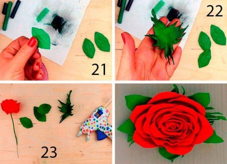 Цветы из фоамирана своими руками 38