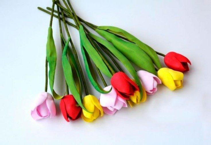 Цветы из фоамирана своими руками 39