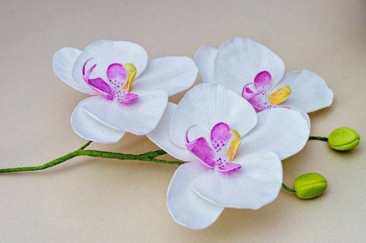 Цветы из фоамирана своими руками 4
