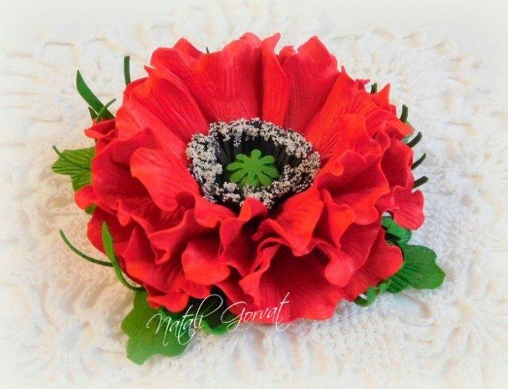 Цветы из фоамирана своими руками 46