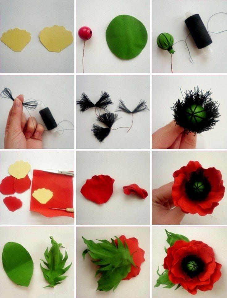 Цветы из фоамирана своими руками 47