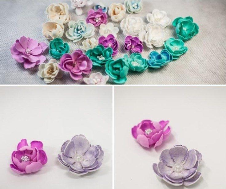 Цветы из фоамирана своими руками 53